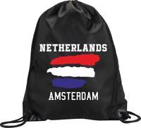 BACKPACK BAG AMSTERDAM NETHERLANDS HOLLAND GYM HANDBAG SPORT M1