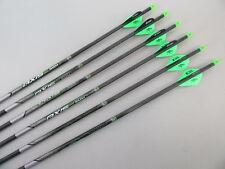 6 Easton Axis 5mm arrows w/ 2 Kiwi 1 Black  Blazer (400)