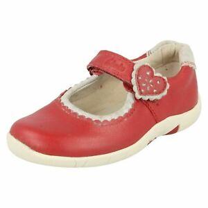 Filles Clarks Fermeture Crochet et Boucle F Convient Chaussures