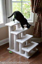 Armarkat Classic Cat Pet Dog 4 Step Steps Stairs Perch Ivory B4001