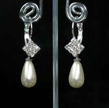 Leverback Pearl Costume Earrings