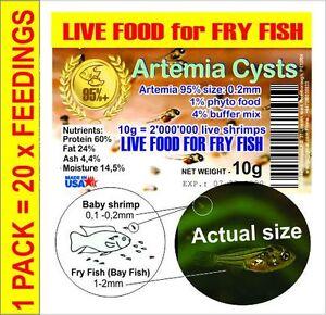 ARTEMIA EGGS /FRY FISH FOOD /  BRINE SHRIMP EGGS / SMALL FISH FOOD/ MICRO FOOD