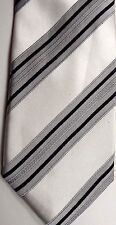 "Peacock Men's Silk Tie 59"" X 3.5"" Multi-Color British Stripe"