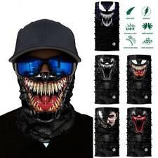 3D Seamless Venom Magic Bandana Neck Gaiter Summer Thin Tubular Ring Scarves