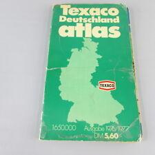 RARE Germany Texaco Atlas 1976 1977 VTG map