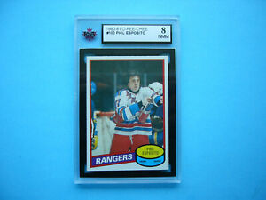 1980/81 O-PEE-CHEE NHL HOCKEY CARD #100 PHIL ESPOSITO KSA 8 NM/MINT SHARP+ OPC