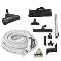 Prolux 30' Central Vacuum Hose Kit with Turbo Nozzles & 1 YR warranty