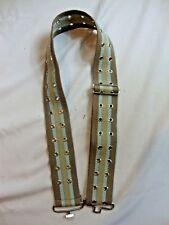 NEW Women's Gray Blue Belt Adjustable Strap Holes Striped Patterned Medium