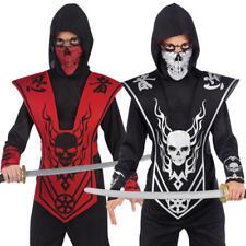 Skull Lord Ninja Boys Fancy Dress Halloween Samuari Assassin Kids Costume Outfit