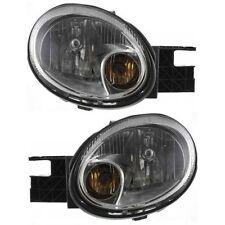 Dodge Neon 03-05 Headlights Headlamps W/Chrome Bezel Left & Right Pair Set New