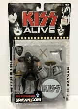 McFarlane ALIVE 2000 KISS PETER CRISS Action Figure Guitar Pick Sealed NEW MINTY