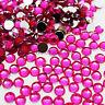 1000 Hot Pink Rhinestones 2mm silver Flat Back round Acrylic Beads 3d nail art