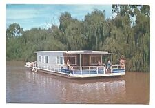 "VIC - c1970s POSTCARD - HOLIDAY HOUSE BOAT ""WANDERER"" ON RIVER MURRAY, MILDURA"