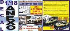 ANEXO DECAL 1/18 FORD ESCORT RS 1800 MK II ROTHMANS VATANEN 1000 LAKES 1979 (01)
