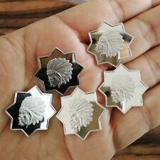 Lot of 5 x 5 g Indian Octagon .999 Fine Silver Bar Round Bullion /  1 YXA003 OZ