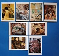 Set of 8 Different Art Postcards Corinth, Carrington, Picasso, Vuillard, Sickert
