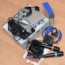 Sony PlayStation 2 Slimline silver SCPH-75004, Mikrofone, Oehlbach, Eyetoy usw.