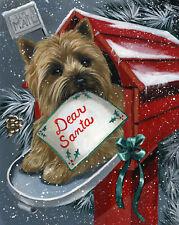"""Precious Pets Garden Flag - Cairn Terrier Santa List 12"""" x 18"""" ~ Charity!"""