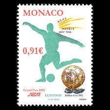 Monaco 2002 - Awarding Luis Figo with Philately Prize ASCAT Soccer - Sc 2269 MNH