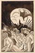 EDY LEGRAND - ASSASSINÉ - RÉVOLUTION FRANCAISE - plume et aquarelle signée 1922