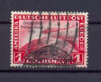 DR 496 Zeppelin Chicagofahrt 1 RM gestempelt geprüft Schlegel (ts122)