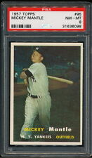 Mickey Mantle 1957 Topps Yankees Card #95 PSA 8 *Very Clean*