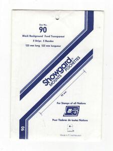 SHOWGARD BLACK STAMP MOUNTS various sizes