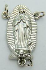 """MRT Our Lady of Guadalupe Silver Plated LARGE Rosary Centerpiece Part 1"""" Gift"""