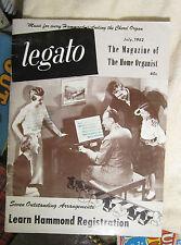 Legato Hammond Organ Registration July 1952 Home Organist Magazine