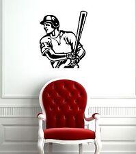Wall Sticker Vinyl Decal Baseball Bat Sport Sportsman (ig1137)