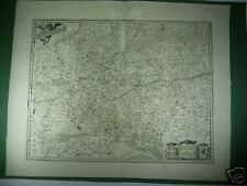 Große Karte Mons, Tournai , Ath von 1650 original / STARK REDUZIERT !!