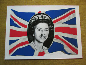 Jamie Reid SIGNED  God Save The Queen GSTQ 300 Limited edition print sex pistols