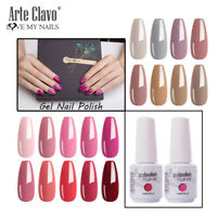 Arte Clavo 15ml Gel Nail Polish Soak Off for Manicure UV/LED Lamp Hot New Colors