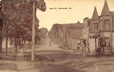 Monmouth ME Double Tower Shop (Gone!) Old West Facade~B&W 700 Blck Main St c1910
