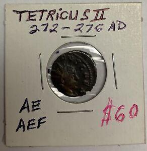 Tetricus II 272-276 AD AE Priestly Implements PIETAS AVGVSTOR Roman Ancient Coin
