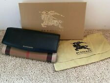 Burberry House Check Porter Leather Continental Wallet