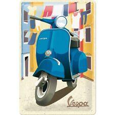 Vespa Motorroller Italien Laundry Nostalgie Blechschild 30 cm shield