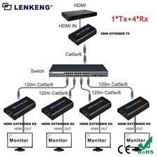 HDMI Extender (1 Sender and 4 Receivers ) Over IP/TCP UTP/STP CAT5e/6 RJ45 120M