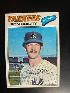 1977 Topps Card #656 Ron Guidry - Great Condition