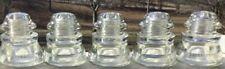 Five 5 Antique Hemingray 45 DIY Clear Glass Insulators Predrilled Pendant Xx