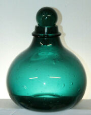 Vintage Teal Green Apothecary Jar Bottle