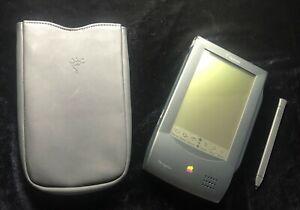 Original Apple Newton Messagepad 100 w Leather Case & Stylus(1993) Barely Unused