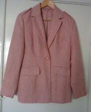 Together Pale pastel Pink padded shoulders hip length Jacket coat UK Size 12