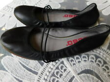 TSUBO BLACK 'HONNOR' BALLET style COMFORT LEATHER SHOES stretch FLATS 7.5 8 39