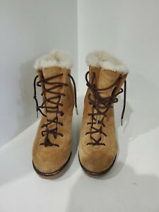 Michael Kors Womens Chestnut Suede Wedge Ankle Boots Size 9.5 M