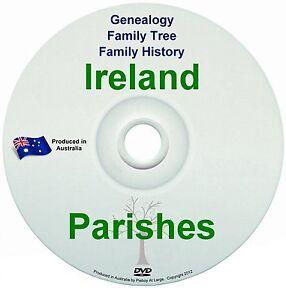 Family History Tree Genealogy Ireland Irish Parish Church Town Village NEW DVD