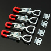 4Pcs Adjustable Cabinet Boxes Lever Handle Toggle Latch Catches Lock Clamp Hasp