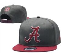 New Era NCAA  9fifty Alabama Crimson Tide  adult snapback hat grey/wine bill.