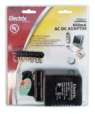 800 mA Universal AC-DC Adapter UL Listed 12V 9V 7.5V 6V 4.5V 3V Power Charger