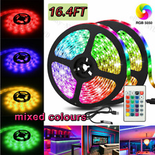 5M 16.4ft RGB Waterproof 300 LED 3528 SMD Flexible Strip Light 12V+Remote+Power@